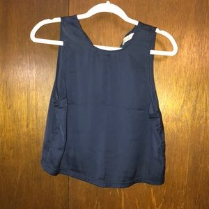 ABERCROMBIE AND FITCH NAVY BLUE CROP TOP